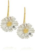 Alex Monroe 22-karat gold-plated sterling silver daisy earrings