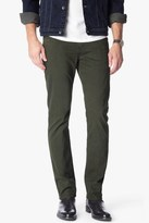 7 For All Mankind Luxe Performance Sateen The Straight In Twig Green