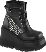 Demonia Women's Shaker 50 Platform Ankle Boot
