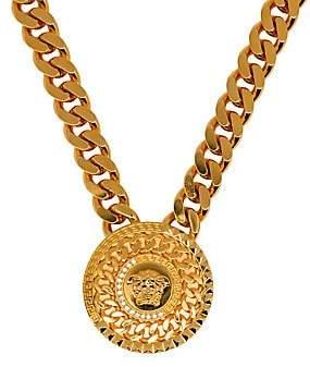 Versace Men's Medusa Head Strass Medallion Necklace