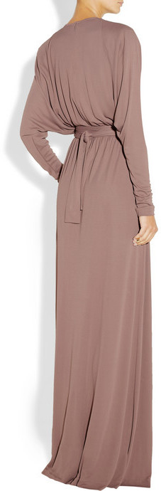Bottega Veneta Belted crepe-jersey gown