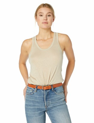 Majestic Filatures Women's Linen Stretch Scoop Tank with Rounded Hem
