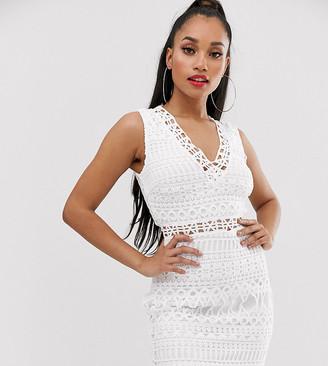 Parisian broderie anglaise sleeveless mini dress