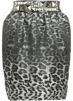River Island Womens Grey animal print skirt