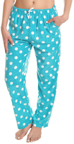 Angelina Aqua & White Dot Fleece Pajama Pants - Plus Too