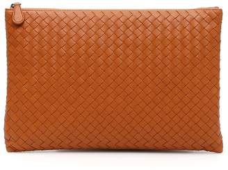 Bottega Veneta Unisex Woven Nappa Biletto Document Case