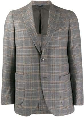 Tombolini classic plaid pattern blazer