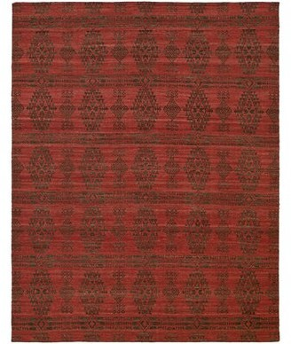 Libbey The Conestoga Trading Co. Handmade Charcoal/Red Area Rug The Conestoga Trading Co. Rug Size: 4' x 6'