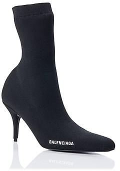 Balenciaga Women's Round Toe Knit Booties
