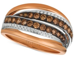 LeVian Le Vian Chocolatier Diamond Ring (7/8 ct. t.w.) in 14k Rose Gold & White Gold