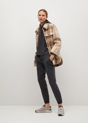 MANGO Knit jogger-style trousers