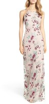 Jenny Yoo Women's Claire Floral Embroidered Gown
