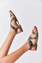 Urban Outfitters Maddie Faux Python Leather Sandal