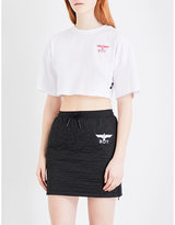 Boy London Eagle-print Cotton-jersey Cropped Top