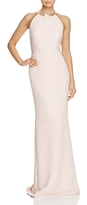 Carmen Marc Valvo Open Back Ruched Gown