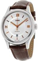 Oris Men's Classic 42mm Leather Band Steel Case Automatic Watch 73377194071ls