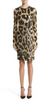Naeem Khan Women's Cheetah Print Sequin Sheath Dress