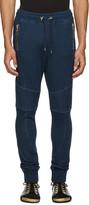 Balmain Blue Panelled Zip Lounge Pants