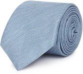 Reiss Torres - Mottled Weave Tie in Blue, Mens