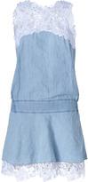 Ermanno Scervino Light Blue Cotton-Linen Lace Detailed Dress