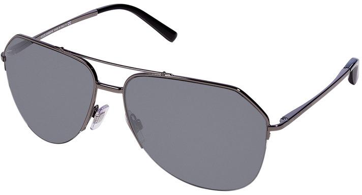 Dolce & Gabbana Gunmetal-Toned Metal Mirrored Aviator Sunglasses