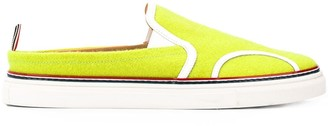 Thom Browne Tennis Ball Flannel Slip-On Sneakers