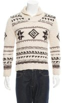 Golden Goose Deluxe Brand Intarsia Shawl Collar Sweater