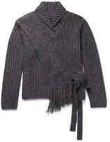 Craig Green Mélange Ribbed-Knit Sweater