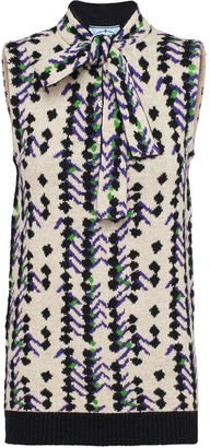 Prada Square Jacquard Knitted Top