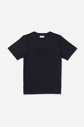 Saturdays NYC Miller Black S/S Tee