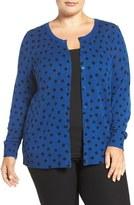 Sejour Plus Size Women's Wool & Cashmere Crewneck Cardigan