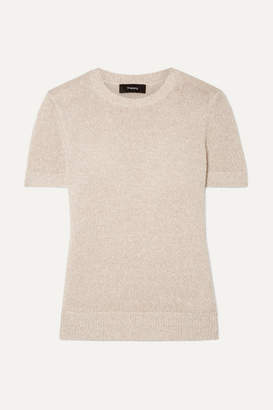 Theory Linen-blend Sweater - Beige