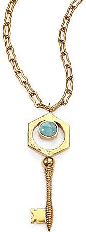 Kelly Wearstler Larimar Covet Key Pendant Necklace