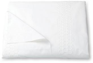 Matouk Liana Duvet Cover - White Full/queen