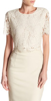 J.Crew J. Crew Collection Floral Lace Cropped Tee