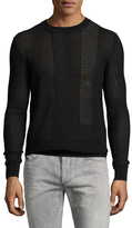 Diesel Black Gold Krambol Cotton Pointelle Sweater