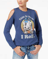 Star Wars Juniors' R2-D2 Cold-Shoulder Sweatshirt