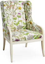 Massoud Furniture Anne Wingback Chair, Wild Oasis