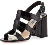 Prada Patent Caged 85mm Sandal