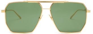 Bottega Veneta Aviator Metal Sunglasses - Green