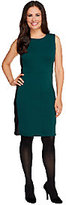 Walter View by Baker Petite Dress with Faux Leather Trim