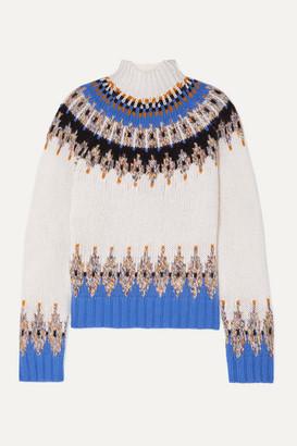 Stine Goya Justin Fair Isle Wool-blend Turtleneck Sweater - Ivory