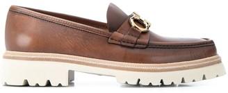 Salvatore Ferragamo ridged sole loafers