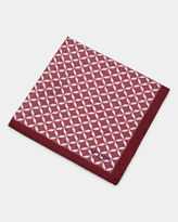 Ted Baker Geo print silk pocket square