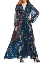 French Connection Celia Mixed Floral Deep V-Neck Maxi Dress