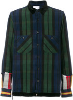 Sacai plaid and striped shirt