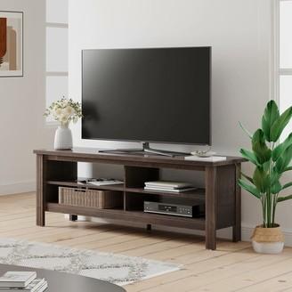 "Wampat Farmhouse TV Stand for 65"" TV Wood Media Console Entertainment Center for Living Room,Espresso - 59"""
