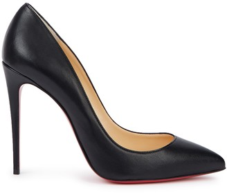 Christian Louboutin Pigalle Follies 100 Black Leather Pumps