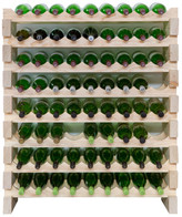 8 Layers of 9 Bottles Wine Rack Finish: Natural