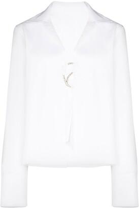 Rosie Assoulin Gwyneth open shirt